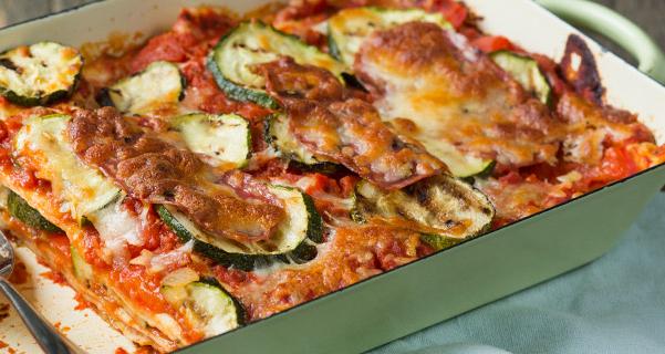 Salami lasagna