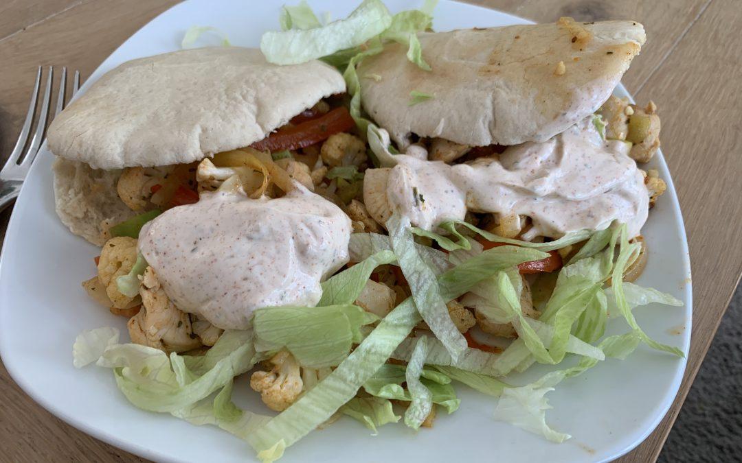 Libanese pita met groenten en kip (verspakket AH)